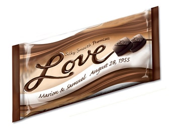 LOVE Bar - Wedding (Dove) Candy Bar Wrappers - 12