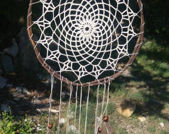 Dream catcher crochet and dried root