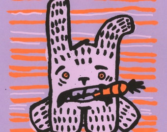 Rabbit Screen Print