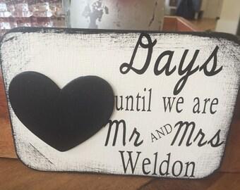 Wedding Countdown Magnet