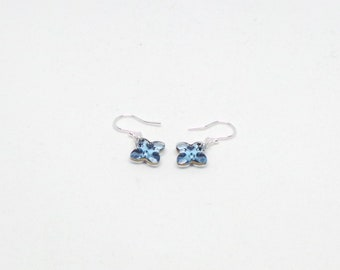 Crystal cross earrings featuring Swarovski crystal