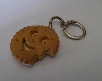 key chewed cookie filled with polymer clay vanilla