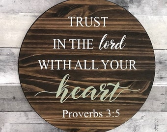 Sterchi Adoption Fundraiser Sign/ Trust in the Lord with all your heart