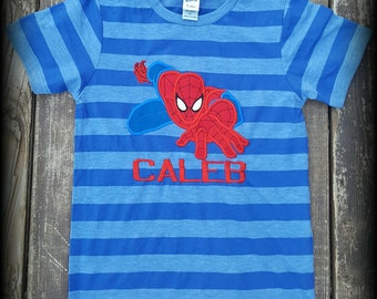 Spiderman Shirt,Boy Shirt,Applique,Embroidery,Custom,Personalized