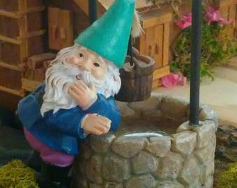 Miniature Gnome, Fairy Garden Gnome, Doll House Gnome