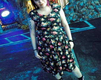 Lanz 80's Vintage Floral Dress with pockets