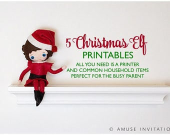 Elf Printable Bundle, Elf Printable Kit, Christmas Ispy, Elf Hides Candy, Elf Christmas Soup, Elf says Goodbye, Magic Seeds, Elf Kit