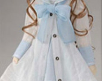 BJD SD sd13 50cm 60cm doll 1/3 white sky blue sailor antique vintage dress