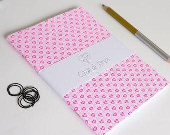 Notebook Screenprinted hearts