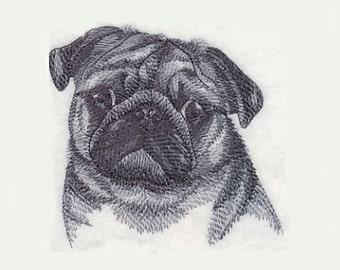 Pug Tea Towel | Embroidered Kitchen Towel | Personalized Kitchen | Dog Lover Gift | Embroidered Towel | Tea Towel with Dog | Custom Towel