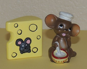 Josef Original Mouse Figurine and Mouse in Cheese