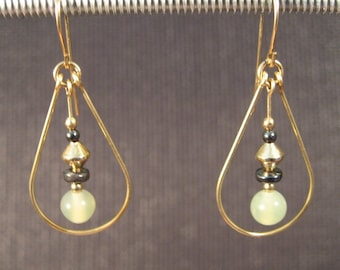 Gold-filled Serpentine Teardrop Earrings