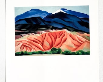 Georgia O'Keeffe / View From My Studio, New Mexico  / 1930 / Art / Book Page Print / Published 1990's