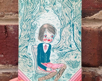 Aww-Lone Postcard Print