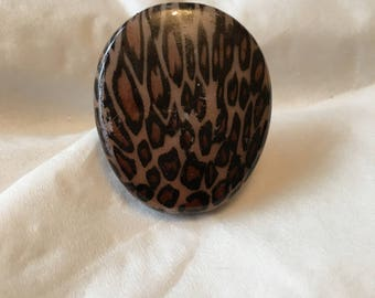 Leopard themed ring