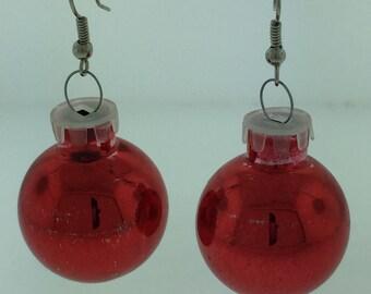 Christmas Tree Ornament Earrings