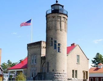 Mackinaw City Lighthouse #1 5x7 Matted Print