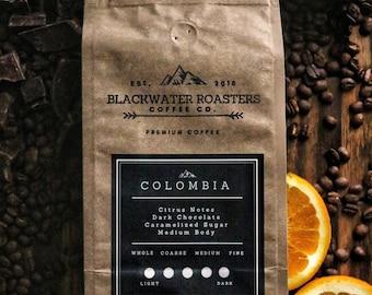 Colombia Single Origin Coffee// Citrus//Dark Chocolate//Caramel//Sugar//Flavor//Roast//Gift//Housewarming//Boyfriend//Girlfriend//Mom//Dad
