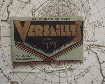 Ancient French Album of 10 Postcards of Versailles - Art Heliogravure Paris