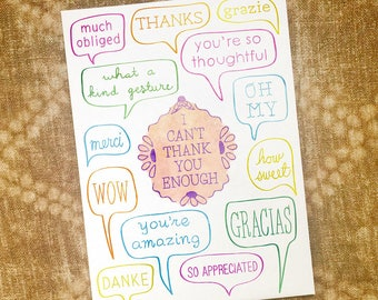 I can't thank you enough - 5 x 7 thank you card
