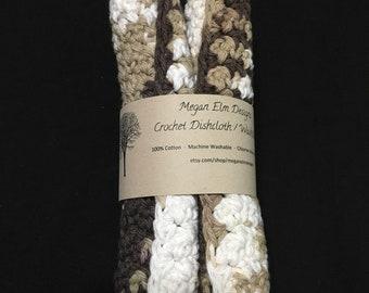 Cotton Crochet Dishcloth / Washcloth