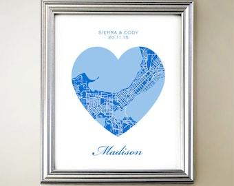 Madison Heart Map