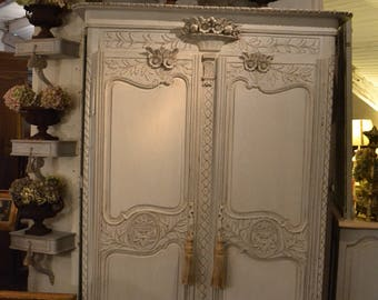 Norman 19th wedding Cabinet old patina