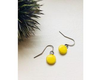 Earrings   A V A   Ceramic Yellow