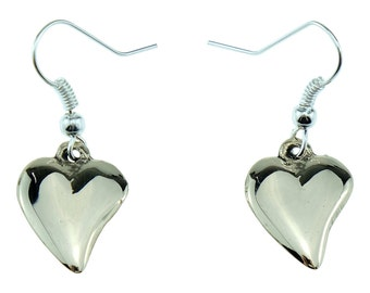 8th Anniversary Gift Bronze Off-shaped 8th Anniversary Heart Earrings