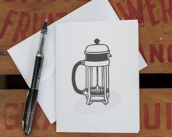 French Press Coffee Card