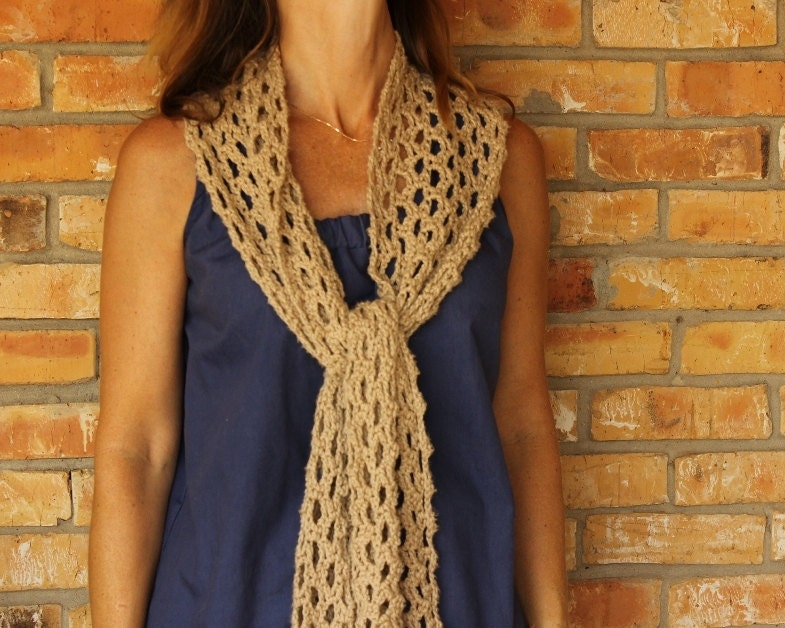 Crochet Pattern for Scarf, Easy to Crochet Lace Scarf, Crocheted ...