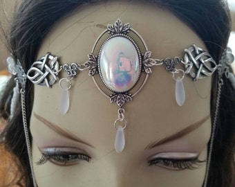Arctic Circlet of the Frozen Sorceress Moonstones celtic elven druid cosplay