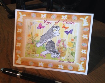 Joys of Easter Schnauzer Notecards