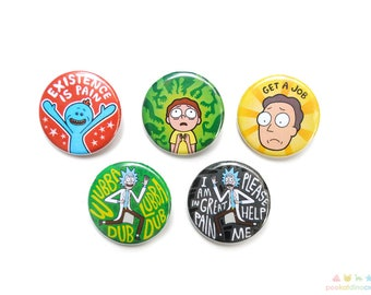 Rick and Morty Button Set