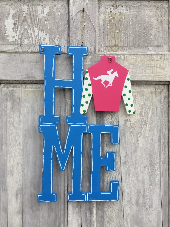 Derby 2018, Kentucky, Home, horseshoe, hand painted, derby, horse lover, welcome sign, door hanger, derby party decoration