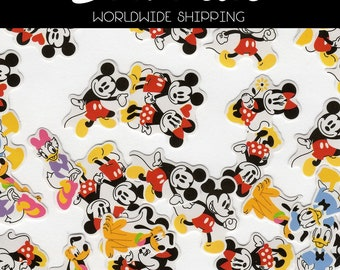 Disney Japanese Flake Stickers 25 pieces Micky Minnie Mouse & Friends