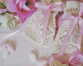 Decorated with PVC bags crochet boho