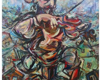 original oil painting in abstract style