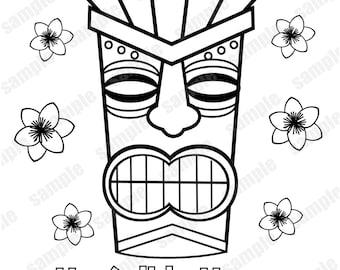 Hawaiian mask Etsy