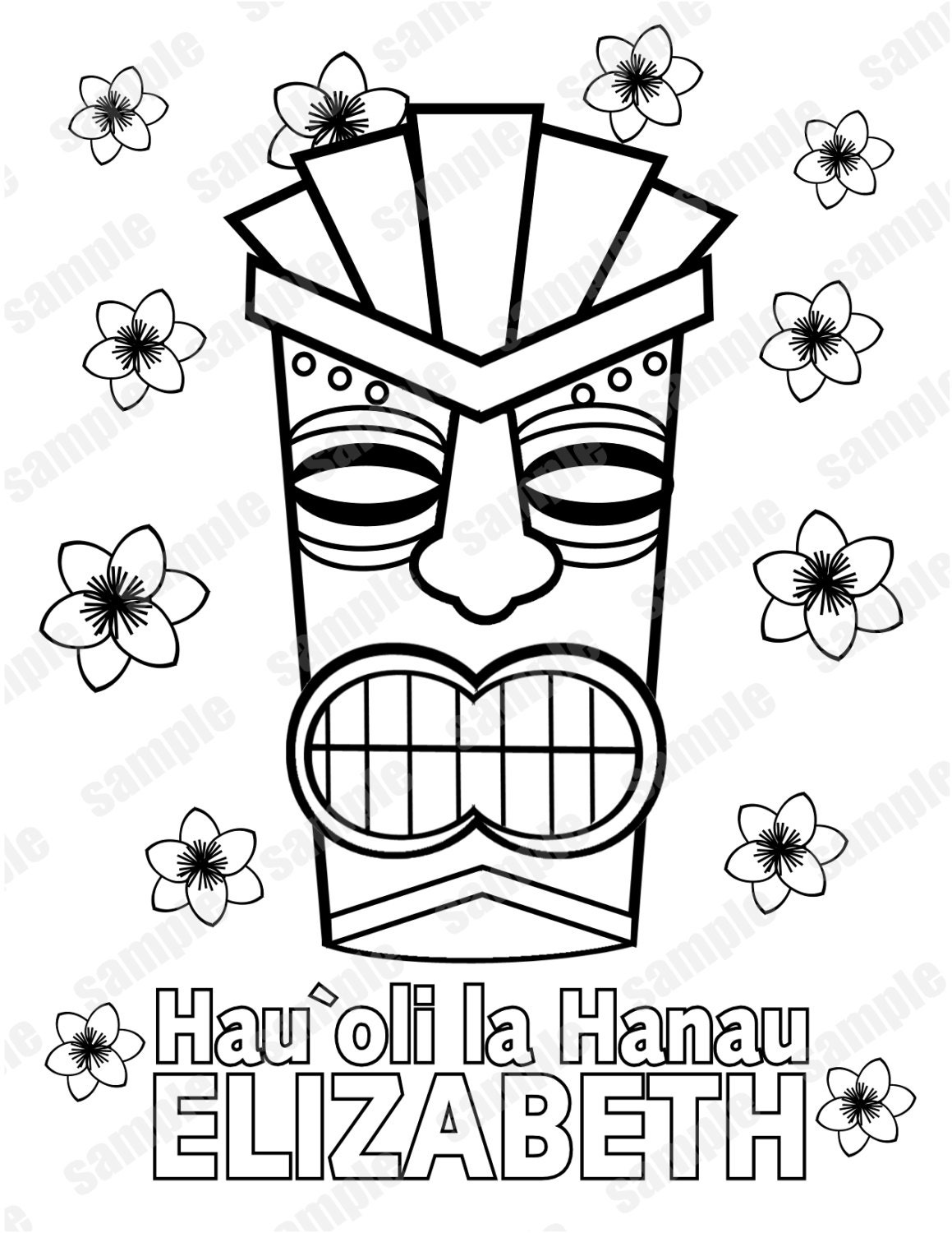 Tiki Head Coloring Pages Printable - Worksheet & Coloring Pages
