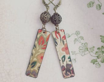 """Tin Jewerly Earrings """"First of Fall"""" Tin for the Ten Year Tenth Wedding Anniversary"""