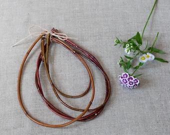 Set N19 of 4 dogwood teardrop Dream catcher Native American style Natural twig dreamcatcher Art craft supplies Boho
