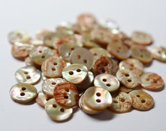 Mother of Pearl Shell Buttons 11 mm - set of 12 eco friendly natural buttons