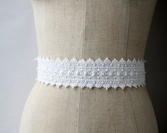 Lace Bridal Sash, Wedding Belt, Wedding Sash, Sample Sale