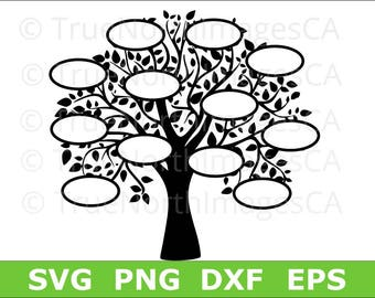 Family Tree SVG / Tree SVG / Family SVG / Family Tree Clipart / Tree Silhouette / Family Tree png / svg Files for Cricut / Silhouette Files