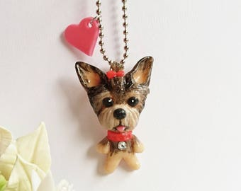 Yorkshire Terrier charms, yorkshire terrier brooch, yorkshire terrier pendant, dog accessories, yorkshire Terrier Accessories