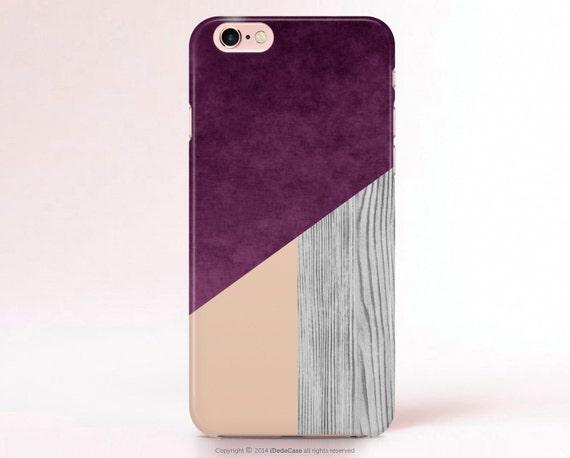 Purple iPhone Case Wood Print Geometric iPhone 6 Case Pantone iphone 5 Case iPhone 5s Case Galaxy S6 Case Color Block iPhone 6s Case 57