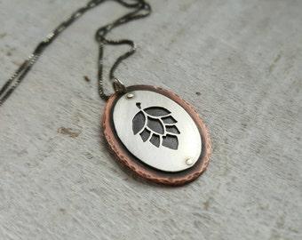 Hop Pendant - Craft Beer Necklace