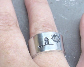 Personalized Ring for Her, Lighthouse Wedding Gift, Cape Cod Ring, Light House Gifts, Cape Cod Style