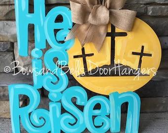 Easter door hanger, spring door hanger, bunny door hanger, easter wreath, spring door decor, easter bunny doorhanger